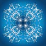 Textura azul de la pendiente del estilo barroco Fotos de archivo