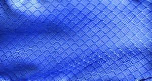 Textura azul de la tela Fotos de archivo