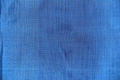 Textura azul de la tela Fotografía de archivo
