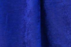 Textura azul de la tela del terciopelo Foto de archivo