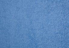 Textura azul de la toalla Imagen de archivo libre de regalías