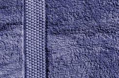 Textura azul de la toalla de baño Imagen de archivo