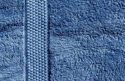Textura azul de la toalla de baño Fotografía de archivo