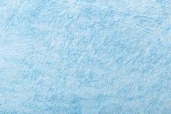 Textura azul de la toalla de la tela Foto de archivo libre de regalías