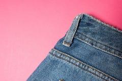 Textura azul de los pantalones vaqueros del dril de algodón Textura del fondo de los vaqueros de la mezclilla azul fotografía de archivo