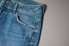 Textura azul de los pantalones vaqueros del dril de algodón Textura del fondo de los vaqueros de la mezclilla azul fotografía de archivo libre de regalías