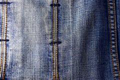 Textura azul de los pantalones vaqueros del dril de algodón Imágenes de archivo libres de regalías