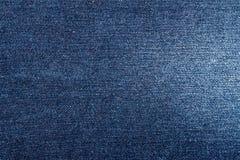 Textura azul de los vaqueros del dril de algodón Fotografía de archivo