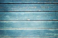 Textura azul de madeira Foto de Stock Royalty Free
