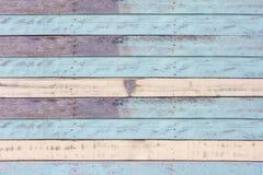 Textura azul de madeira velha da cor Fotografia de Stock