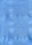 Textura azul de matéria têxtil da tela Fotos de Stock