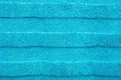 Textura azul de toalha do algodão Imagens de Stock Royalty Free