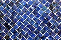 Textura azul del azulejo Fotografía de archivo libre de regalías