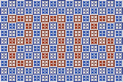 Textura azul del azulejo del mosaico en Lisboa Fotografía de archivo libre de regalías