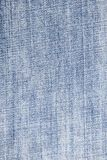 Textura azul del dril de algodón Fotos de archivo