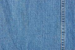 Textura azul del dril de algodón imágenes de archivo libres de regalías