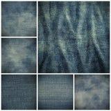 Textura azul del dril de algodón de la mezclilla Imagenes de archivo