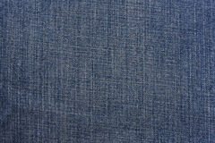 Textura azul del dril de algodón Fotos de archivo libres de regalías