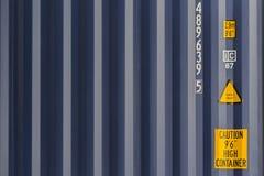 Textura azul del envase del buque de carga Imágenes de archivo libres de regalías