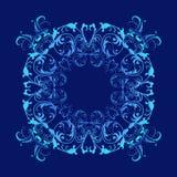 Textura azul del estilo barroco Fotos de archivo libres de regalías
