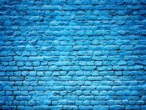 Textura azul del fondo de la pared de ladrillo para el diseño Foto de archivo libre de regalías