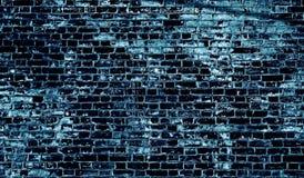 Textura azul del grunge de la pared de ladrillo Imagen de archivo