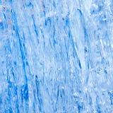 Textura azul del hielo Fotografía de archivo libre de regalías