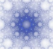 Textura azul del invierno bajo la forma de fractal Imagen de archivo libre de regalías