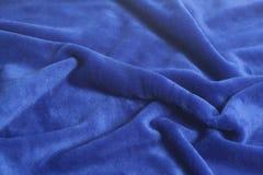 Textura azul do fundo da tela de veludo fotografia de stock