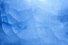 Textura azul do fundo do close up do gelo Fotos de Stock