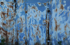 Textura azul do metal com riscos e quebras Imagens de Stock