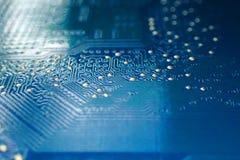 textura azul do microchip fotos de stock