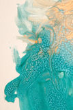 Textura azul e amarela do projeto, fundo imagens de stock