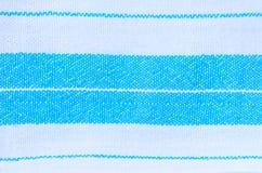 Textura azul e branca de matéria têxtil da tela Fotos de Stock