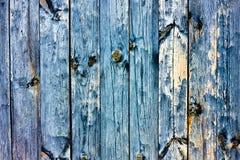Textura azul granulosa de madera del grunge Fotos de archivo