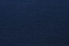 Textura azul marino de la lona Foto de archivo