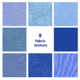 Textura azul marino de la tela Imagen de archivo libre de regalías