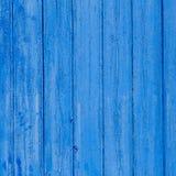 Textura azul resistida grunge envelhecida da madeira da porta Fotografia de Stock