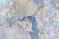 Textura azul resistida velha da parede do emplastro Fundo do Grunge foto de stock
