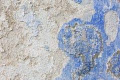 Textura azul resistida velha da parede do emplastro Fundo do Grunge foto de stock royalty free