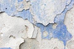 Textura azul resistida velha da parede do emplastro Fundo do Grunge fotografia de stock royalty free
