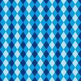 Textura azul sem emenda do teste padrão do fundo do arlequim do diamante Foto de Stock
