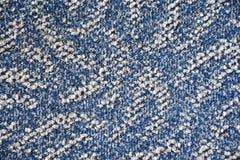 Textura azul y blanca de la alfombra Foto de archivo libre de regalías