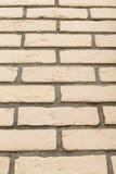 Textura bege da parede de tijolo Foto de Stock Royalty Free