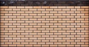 Textura bege da parede de tijolo Imagens de Stock
