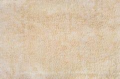 Textura beige de la toalla Imagen de archivo libre de regalías
