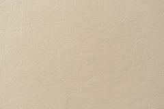 Textura beige del fondo del cuero artificial Imagen de archivo