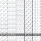 Textura blanca, colección del vector Imagen de archivo