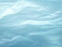 Textura blanca de la bolsa de plástico, macro, fondo Foto de archivo