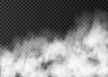 Textura blanca de la niebla en fondo transparente Fotografía de archivo libre de regalías